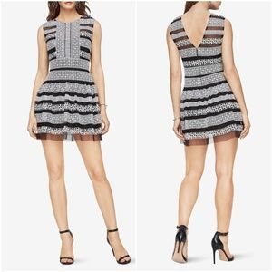 NWT BCBGMaxAzria Kirsi Embroidered Fit Flare Dress